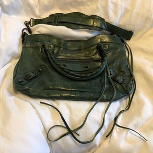 Balenciaga arena leather classic first in green